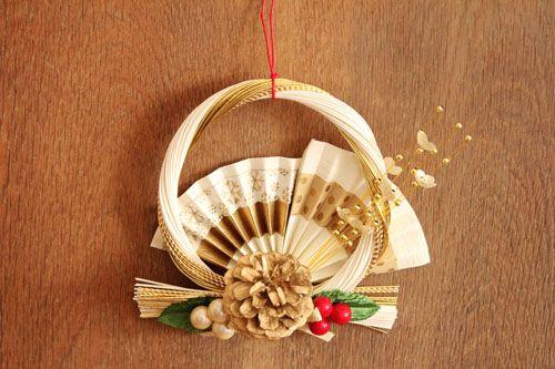 お正月飾りの水引リースです。   作家の和食器ならうちる