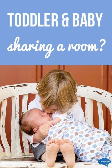 Helpful tips on how to make baby and toddler sharing a room work.