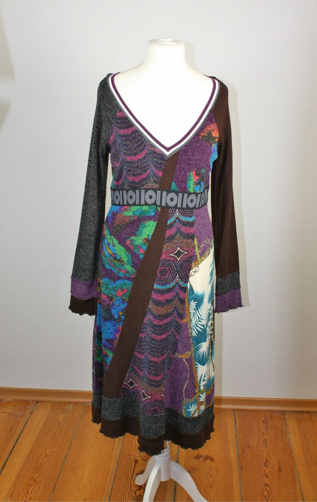 Vintage Kleider - Traumhaftes Wollkleid Herbst spanischer Stil M-L - ein Designerstück von PlanetClaire bei DaWanda