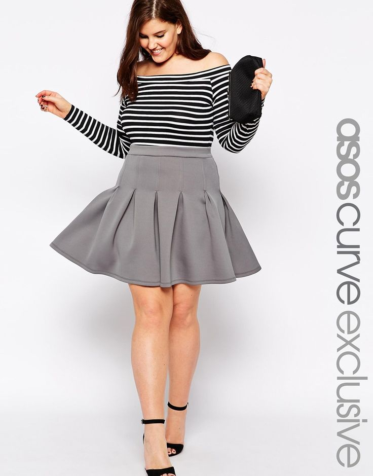 Asos curve skater dress with daisy lace