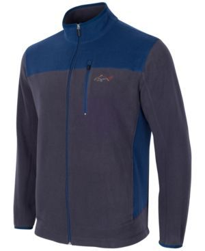 Greg Norman For Tasso Elba Men's Big and Tall 5 Iron Fleece Colorblocked Jacket - Bl