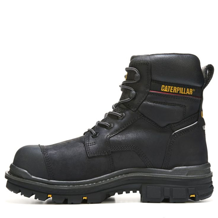"Caterpillar Men's Rasp 6"" Waterproof Metatarsal Guard Composite Toe Work Boots (Black Leather)"