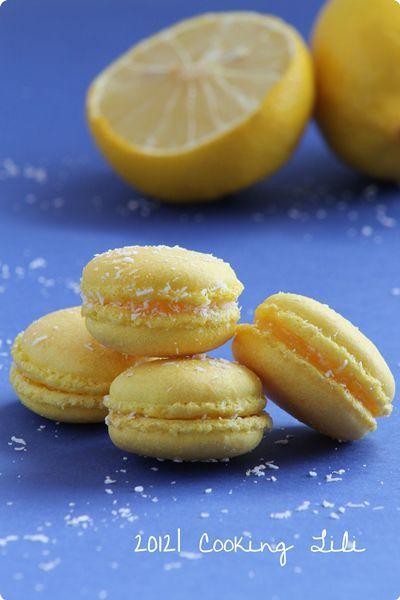 ♥ Macaron Citron & Noix de Coco