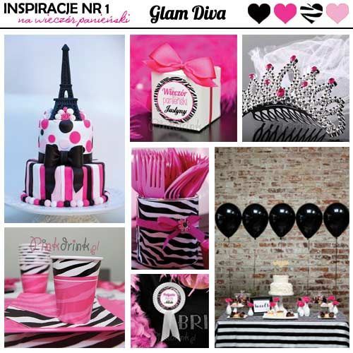 Inspiracje na wieczór panieński w stylu Glam Diva