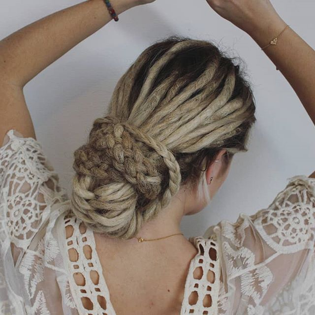 Locs in a Celtic knot