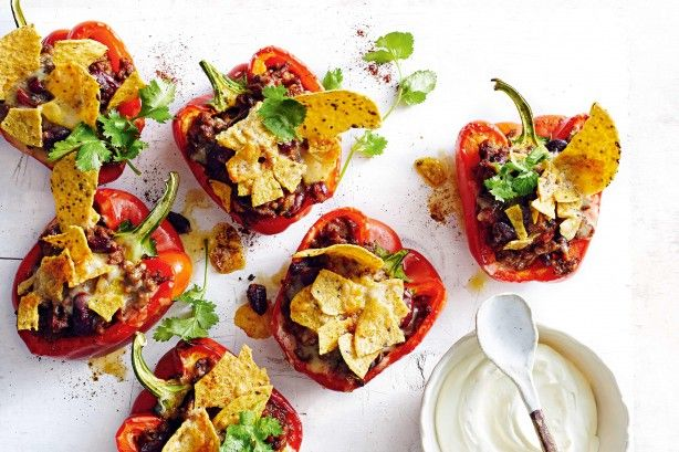 Ground cumin adds an aromatic depth of flavour to the spicy beef mixture in these Mexican-style stuffed capsicums.
