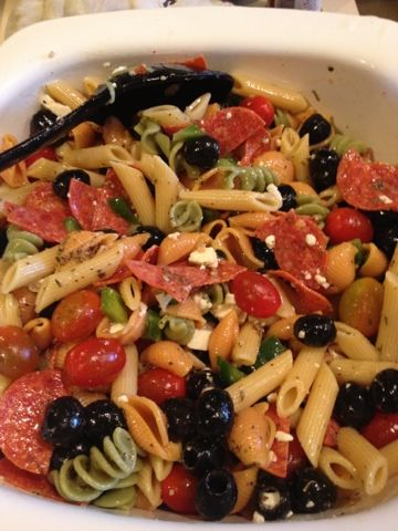 Sunshine Joy & and Smiles: A Meal in One - Favorite Pepperoni Pasta Salad