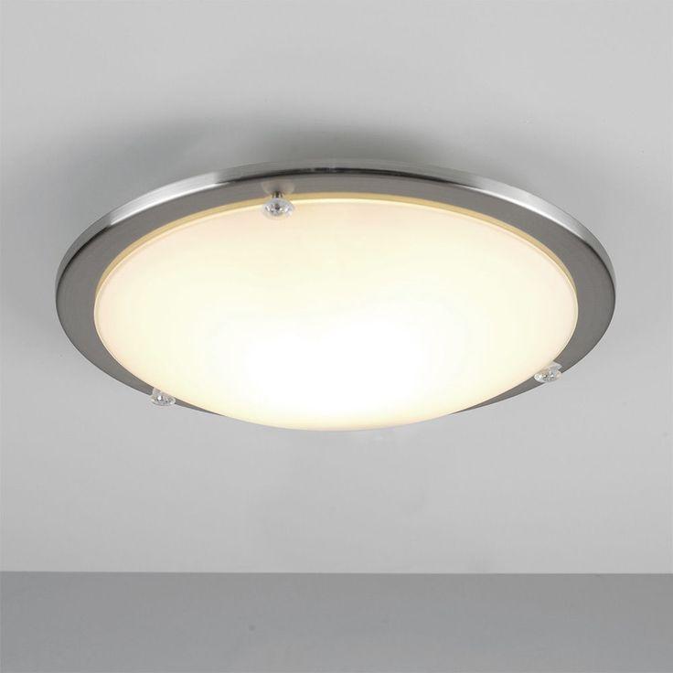 Modern chrome glass round flush dome bathroom ceiling light fittings lights
