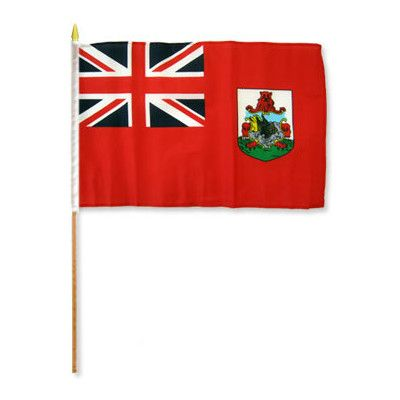 FlagsImporter Bermuda Traditional Flag and Flagpole Set