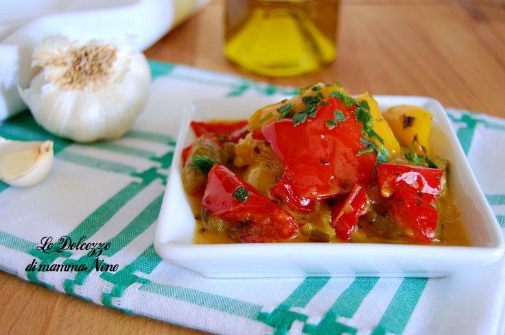PEPERONI IN AGRODOLCE - ricetta con aceto e miele - facile e veloce - ideali per antipasto o come contorno a carne alla griglia, arrosti o pesce.