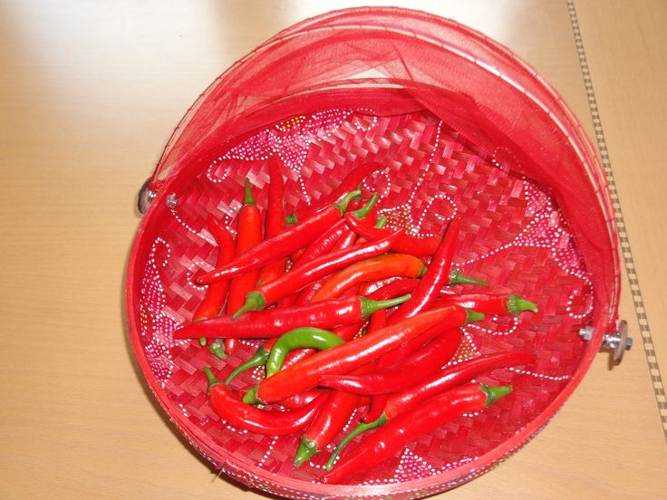 some lik it hot....red peppers