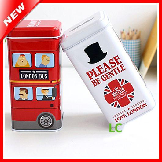 Лондон стиль домой декоративные кофе жестяные коробки для конфеты печенье контейнер для хранения чайница / кухне может кому не лень организатор