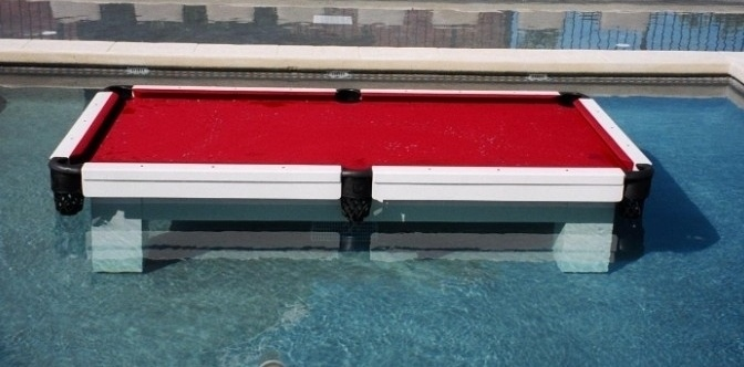 Tanlines In-The-Pool Regulation Pool Table in White Finish