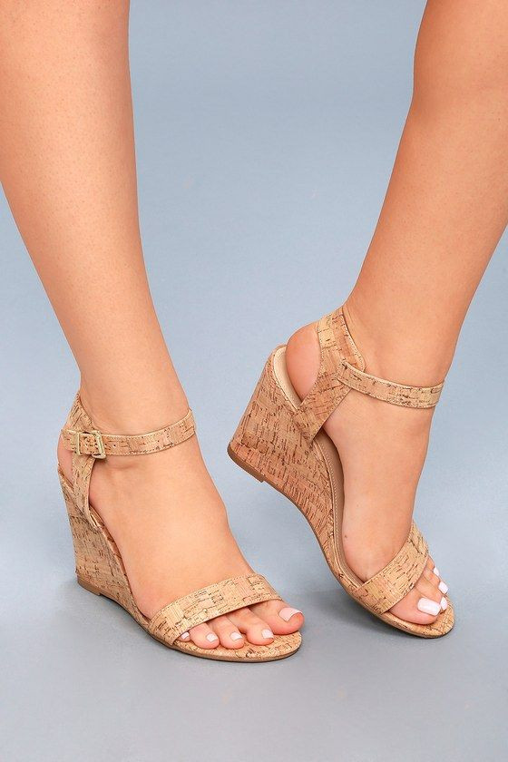 67b6e56fcf6 Whitney Cork Wedge Sandals in 2019 | My style: Shoes, threads ...