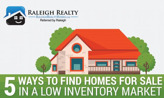 5 Ways to find Homes for Sale in a Low Inventory Market - Can't find the home you're looking for? Does it seem like there just isn't enough options out there for you? Welcome to the life of many frustrated buyers who feel the same way you do. There are things you can do that will help you find the home of your dreams, even when it isn't already listed for sale.