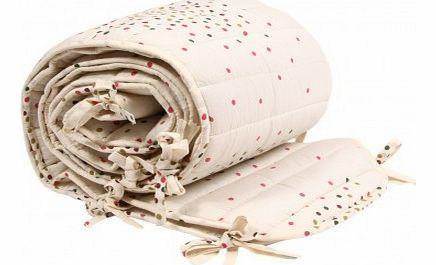 April Showers Complete bed bumper Stardust Vanilla `One size Fabrics : Cotton Details : Cotton, Multicolour dots print Color : Vanilla Color : Multicoloured Bed linen : : 60 x 120 cm Machine washable, 30°C max Style : Casual http://www.comparestoreprices.co.uk/baby-products--other/april-showers-complete-bed-bumper-stardust-vanilla-one-size.asp