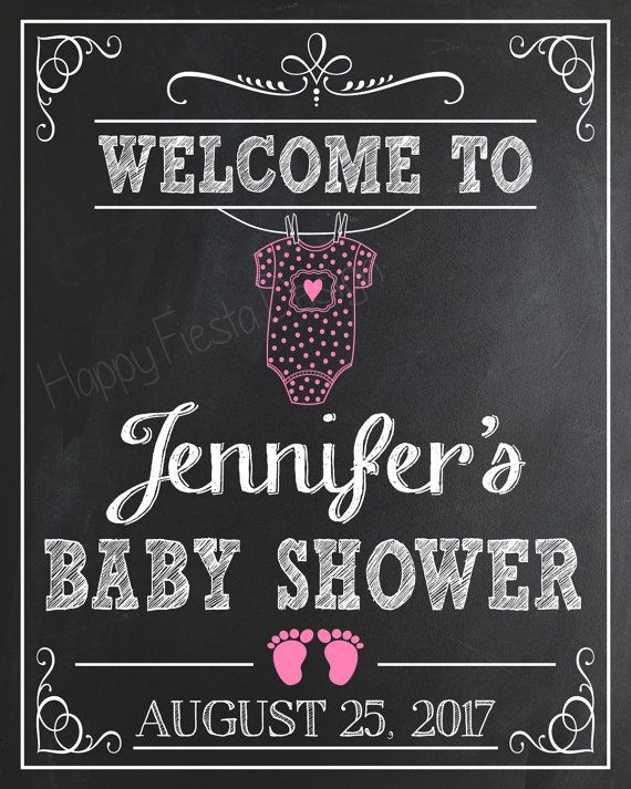 PRINTABLE Baby Shower Welcome Sign-Personalized Welcome To Baby Shower…