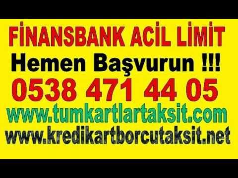 www.tumkartlartaksit.com www. kredikartborcutaksit.net  Acil Limit Finansbank  Türkiye'nin Tüm il ilçelerine Hizmetlerimiz Sürmektedir. Acil Limit  Finansbank ve Kredi Kartı Borcu Taksitlendirme İşlemleriniz İçin Hemen Başvurun Acil Limit Finansbank İşlemleriniz? Acil Limit Finansbank; işlemleri finans bank'ın kredi kartını kullanan vatandaşlara sunmuş olduğu, bir sistemdir. Kredi kartı kullanımında Finansbank'ı tercih eden birçok vatandaş bu kampanyalardan yararlanmaktadır. Diğer banka…