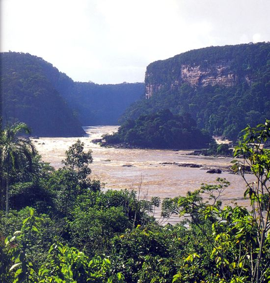 Río Caquetá. Cañón de Araracuara