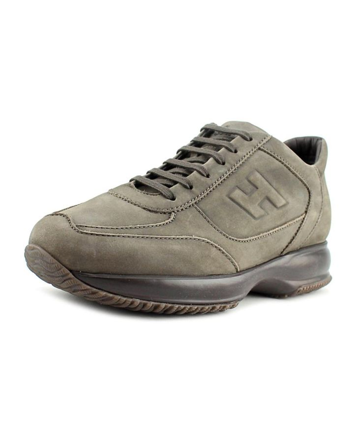 HOGAN Hogan New Interactive H Rilievo Men   Suede Gray Fashion Sneakers'. #hogan #shoes #sneakers