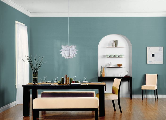 Behr paint color hallowed hush 500f 6 paint colors for Greens dining room zetland road bristol