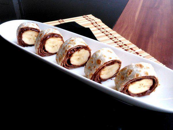 Nutellás-banános palacsintatekercs - Nutella - banana rolls