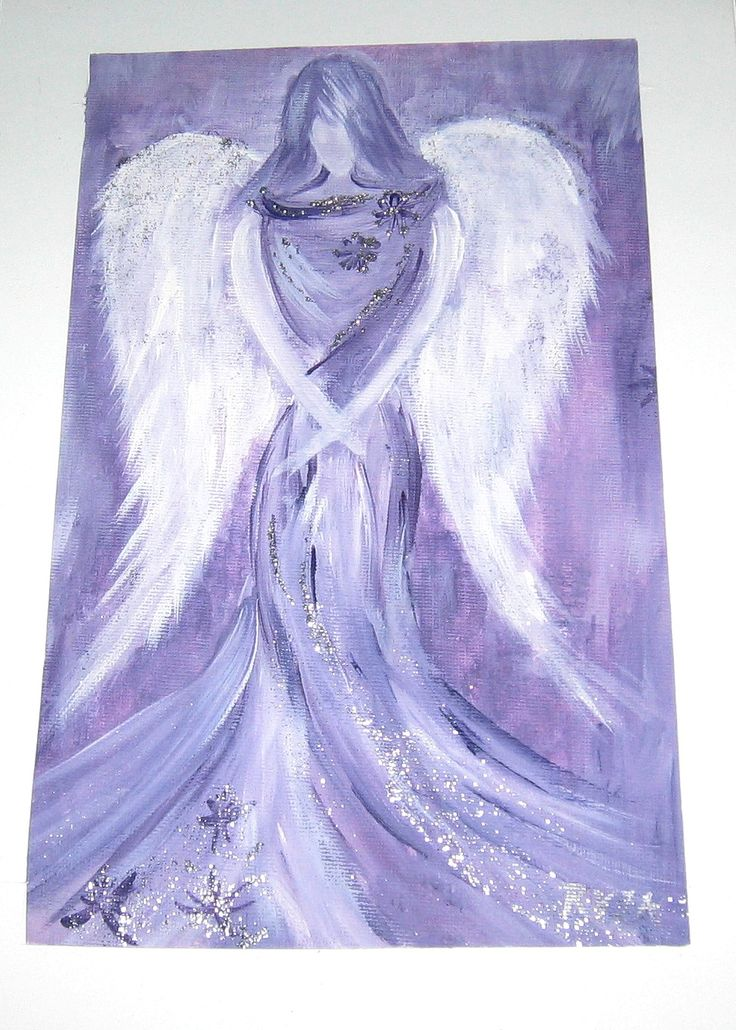 angel...hand-drawing / painting with acrylics