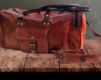 24 único Genune duffel bolsa de cuero para hombres por CueroShop
