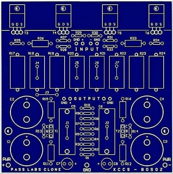 PASS LABS CLONE - XCCS-BOSOZ premplifier PCB | Circuit | Lab