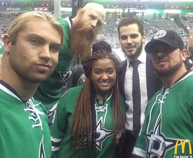 Congrats to @lia.taylor on being today's winner of the #McDStars selfie with @tseguin92 featuring @wwe friends @mmmgorgeous @Ajstylesorg and Erick Rowan.