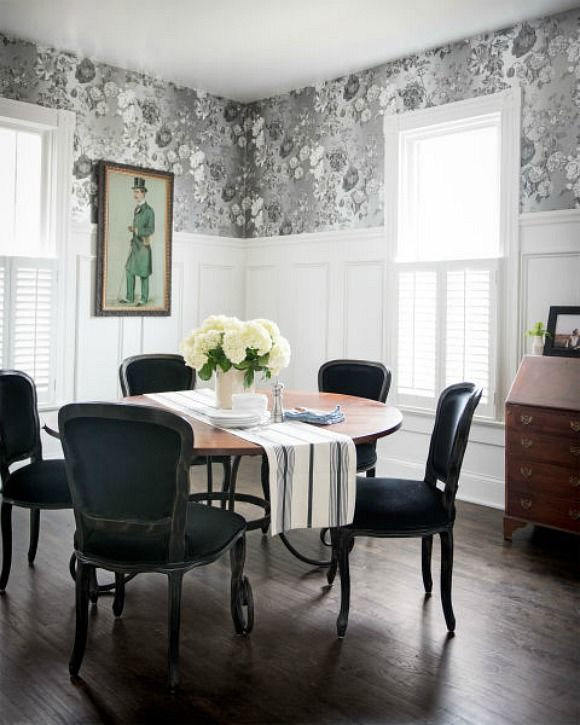 Black...dining room Holly Williams and Chris Coleman's Cottage in Nashville