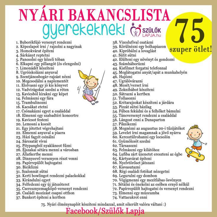 61 szuper ötlet a nyári szünetre, amit imádni fog a gyerek! Játékok, programok, ötletek jó és rossz időre - Szülők Lapja