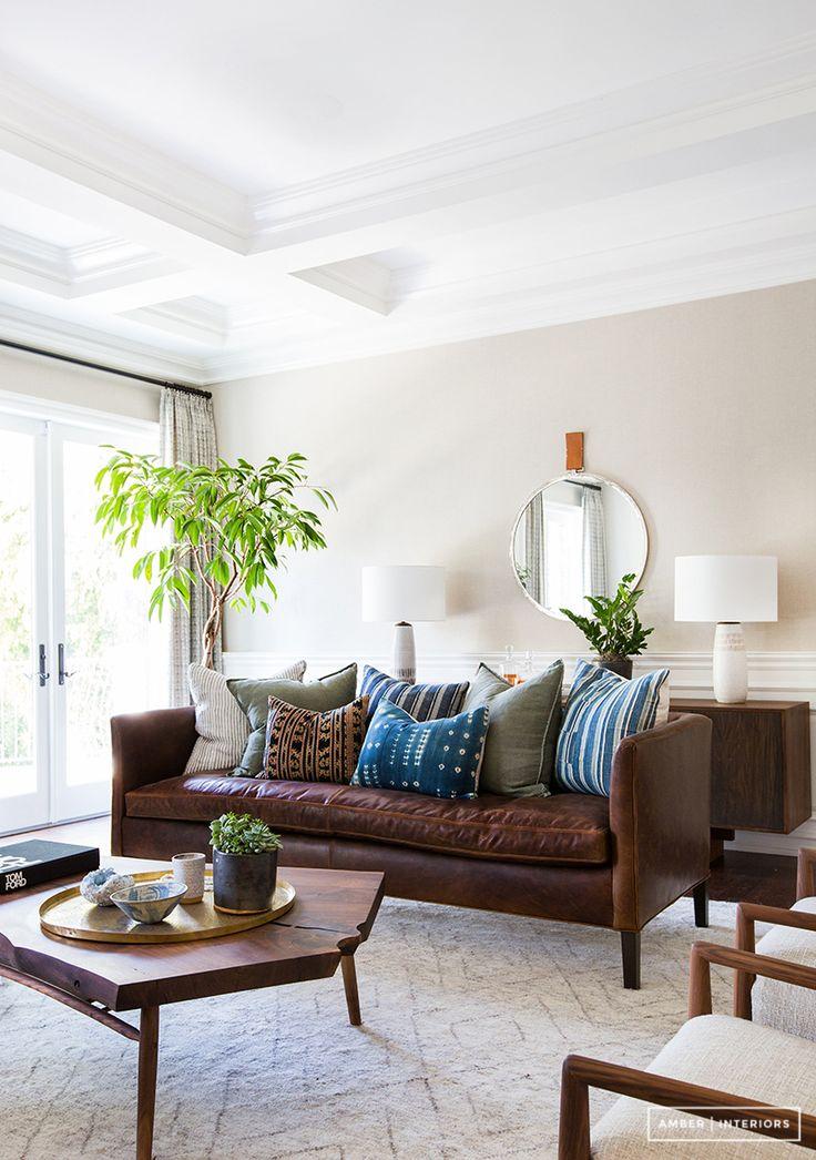 Love The Color Scheme Of PillowsAmber Interiors