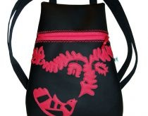 Traditional textile leather bag by http://www.breslo.hu/item/Magyar-nepmesek-hatizsak-bf011_3753#