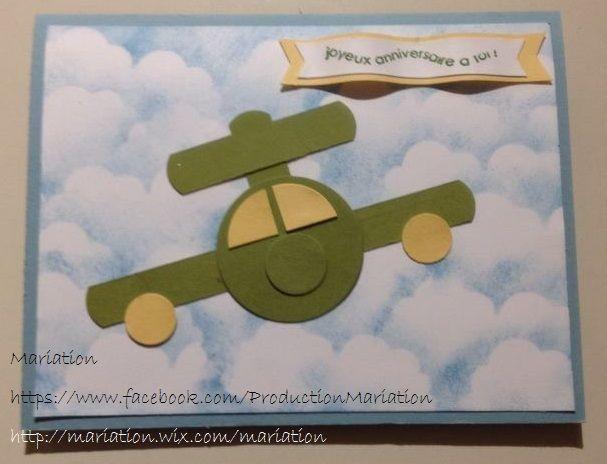 avion carte, stampin' up, scrapbooking, anniversaire, birthday card