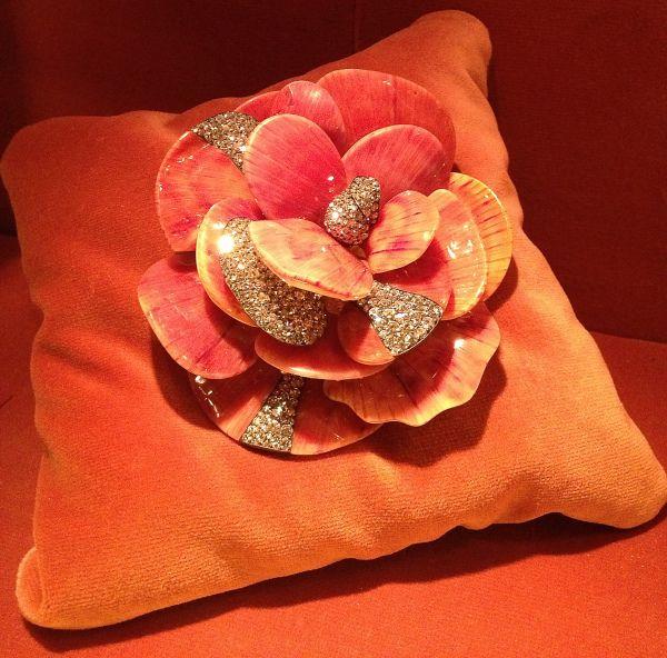 JAR Camellia Brooch 2008 Seashells, diamonds, silver, gold. Private Collection   #jewelsbyjar #jarparis #joelarthurrosenthal #overmydeadrubies via sweetsabelle
