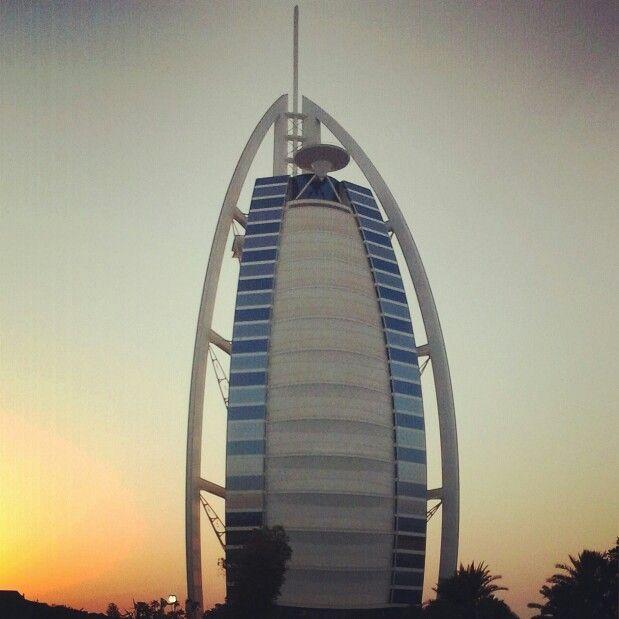 Magical sunset in Dubai