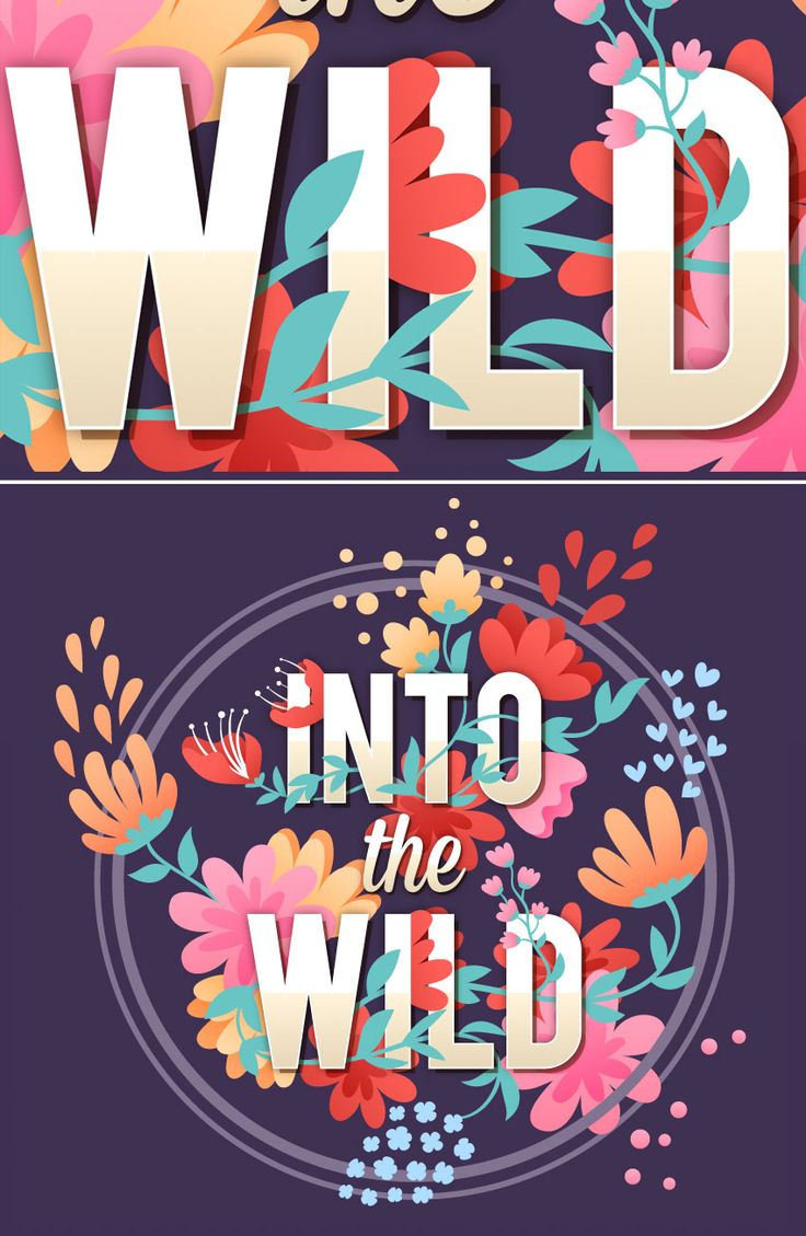 How to Create Vector Floral Typography in Adobe Il…