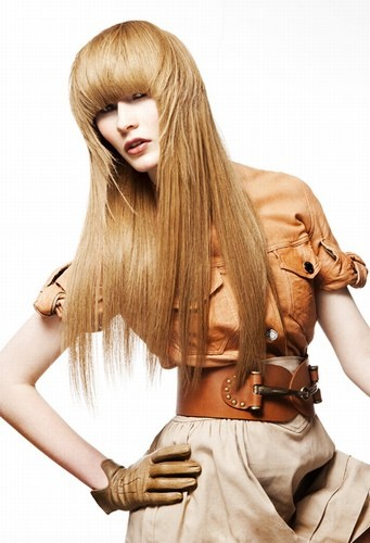Long Hairstyle Ideas Heavy Fringe And Feathering Learn