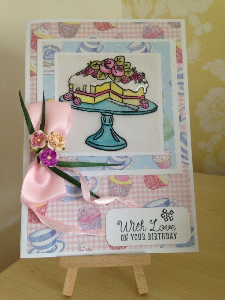 Cupcake Boutique Parchment Card - TC Stamp Challenge