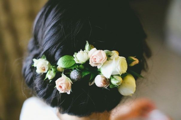 Flowers in the hair again, I am obsessed.