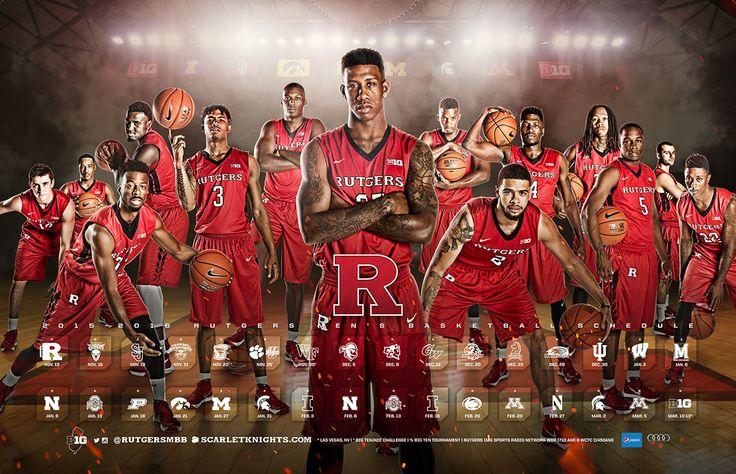 2015-16 Rutgers Men's Basketball Poster on Behance