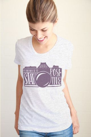 Stay Positive Women Tee