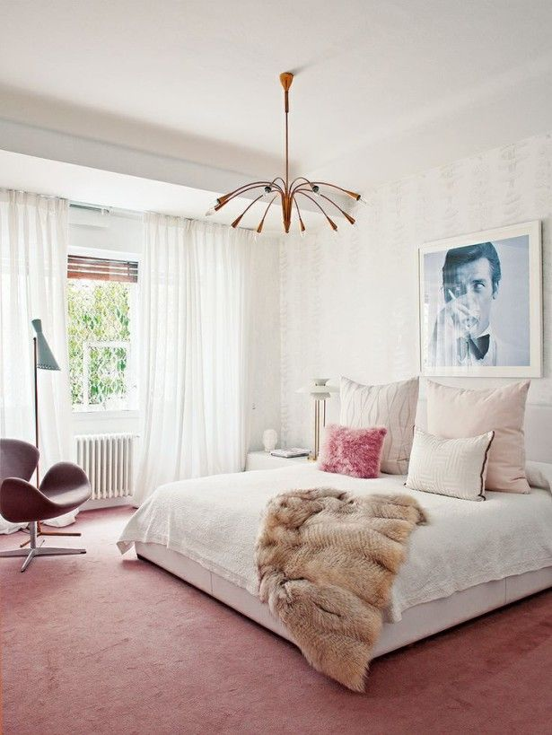 living pink bedroom 2 pinned from Bijou and Boheme   www.christinedovey.com