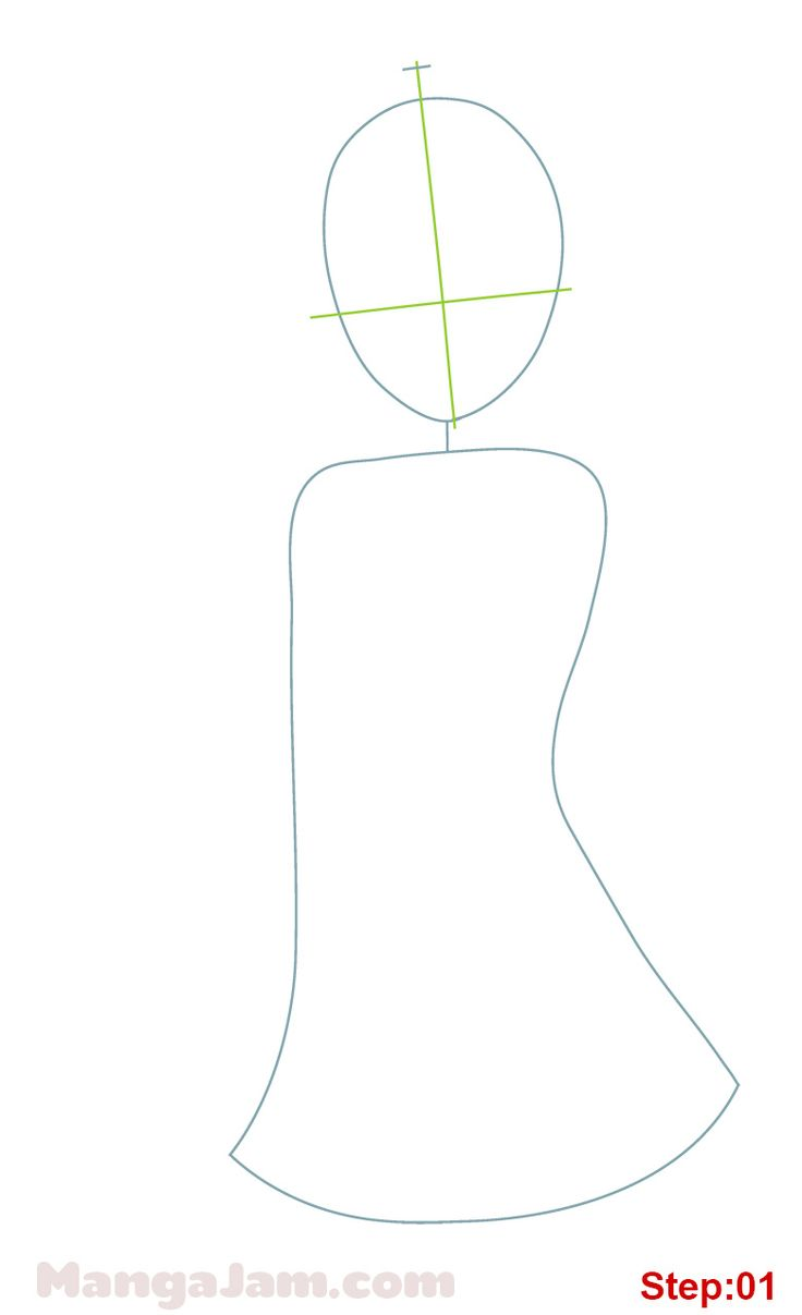How to Draw Momo from To Love Ru step 01