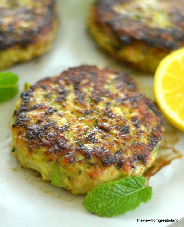 Turkey & Zucchini Burgers with Green Onion and Cumin