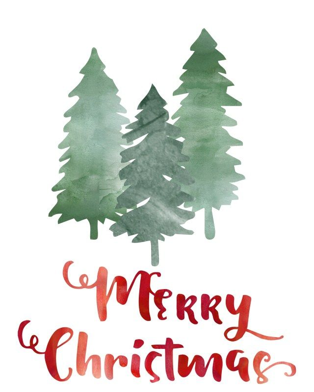 """Free """"merry Christmas"""" printable at TheDomesticHeart.com"""