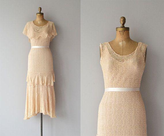 Miette lace dress • vintage 1930s dress • lace 30s dress