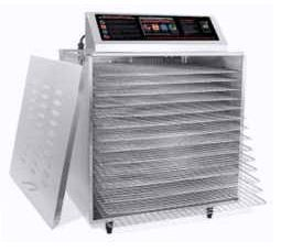 D-14 #Commercial_Dehydrator with Digital Touch Screen & Chrome Shelves
