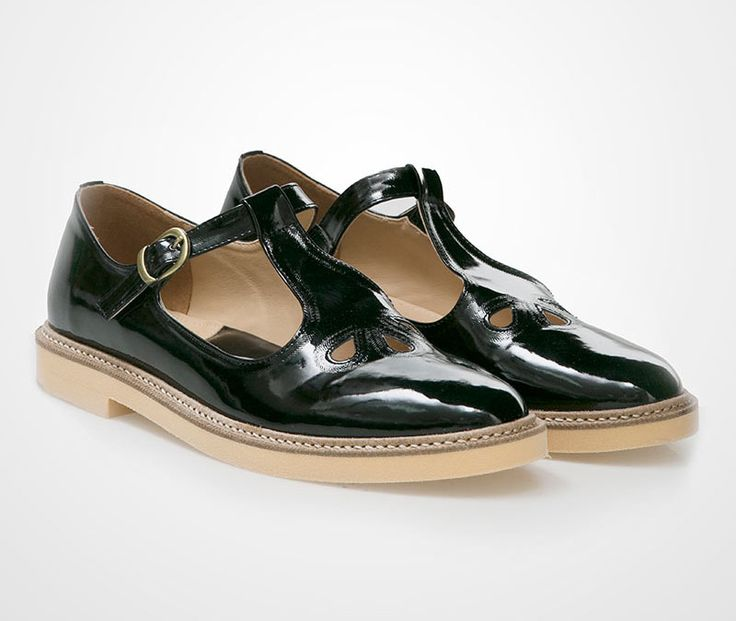 Ceska Shoes by Proudly Shoes. A vintage style black shoes are a perfect pair for your unique style. Pair it with midi skirt or rolled up pants, and you will look stylish in a unique way. Made from good material with contrast sole color.   http://www.zocko.com/z/JJJFi